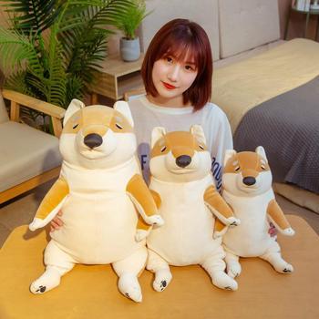 Hot 1pc 40-60cm Cartoon Lying Plush Stuffed Dog Big Toys Shiba Inu Doll Lovely Animal Children Birthday Gift Corgi Pillow