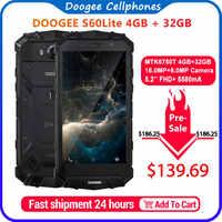 "DOOGEE S60 Lite IP68 de carga inalámbrico teléfono inteligente 5580mAh 12V2A carga rápida 16.0MP 5,2 ""FHD MTK6750T Octa Core 4GB RAM 32GB ROM"