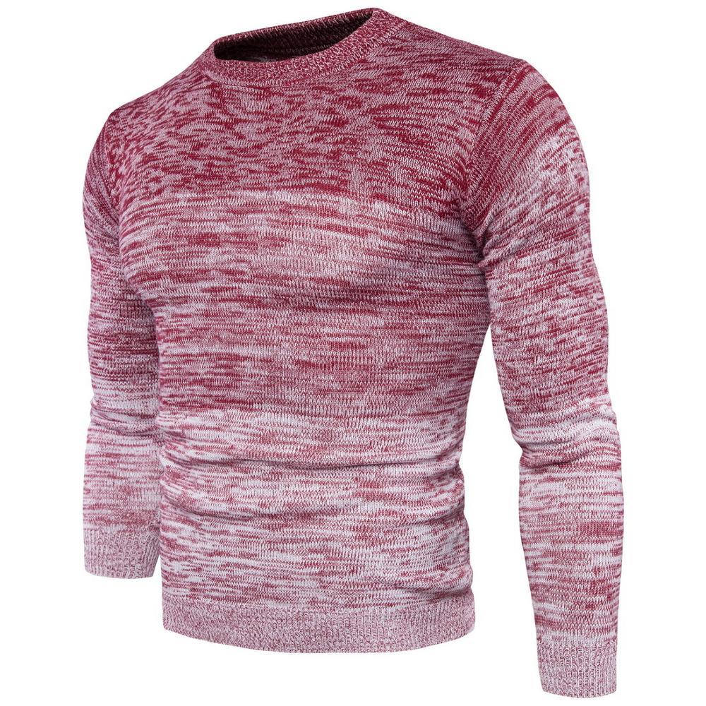 New Autumn Winter Men'S Sweater Men'S Turtleneck Solid Color Casual Sweater