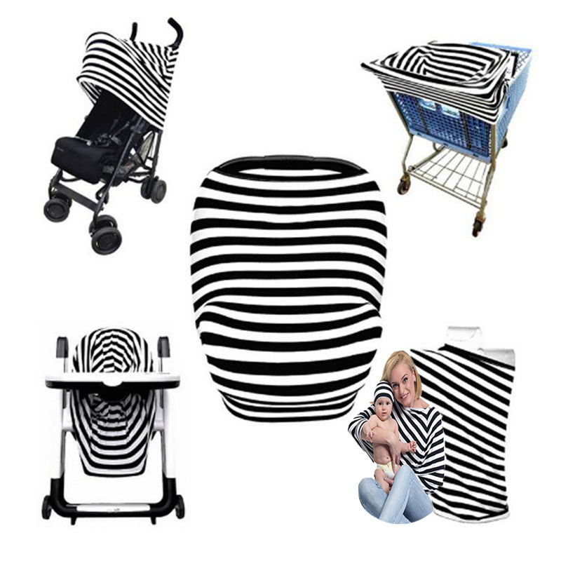 Baby Stroller Cover Multi Use Hanging Carriage Cover Baby Protection Mum Reusable Shopping Cart Car Seat Trolley Cover Bag