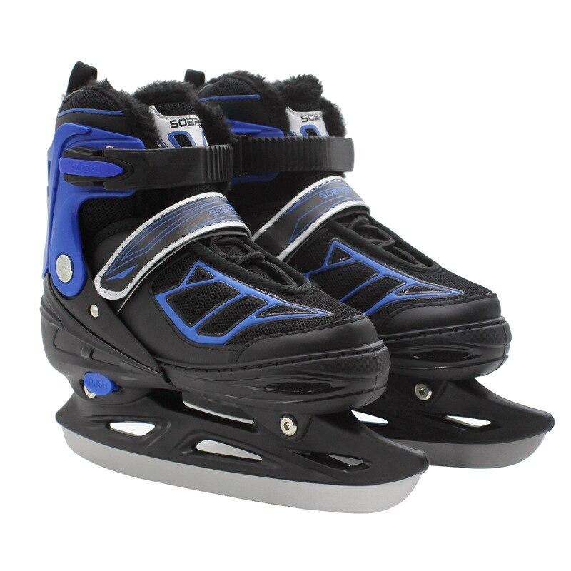 One Pair Adult Women Children Winter Ice Blade Skates Shoes Adjustable Waterproof Thermal Ice Hockey Skating For Beginner
