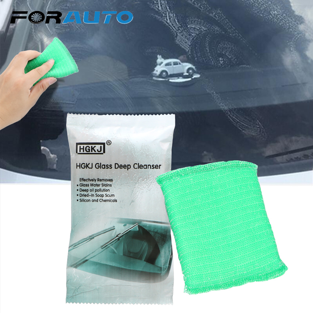FORAUTO Car Window Windshield Cleaning Magic Sponge Remove Oil Film Car Surface Scratches Repair Paint Care HGKJ Auto Accessries