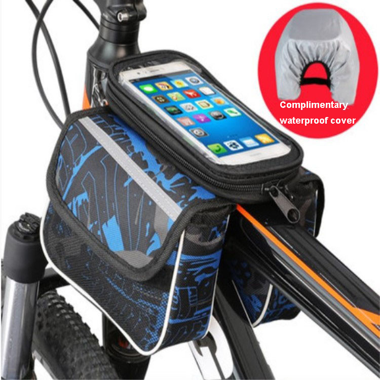 Mountain Bike Frame Front Saddle Bag For Bicycle Cycling Tube Pannier Pouch