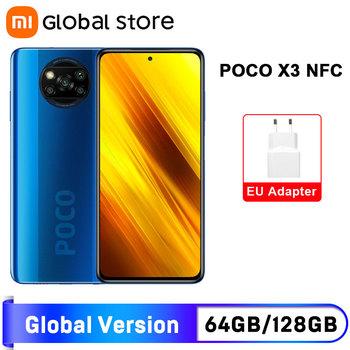 Globalna wersja POCO X3 NFC 6GB 64GB 6GB 128GB Smartphone Snapdragon 732G Octa Core 64MP Quad Camera 6 67 #8222 120Hz 5160mAh tanie i dobre opinie Niewymienna inny CN (pochodzenie) Android Rozpoznawania linii papilarnych ≈64MP USB-PD english Rosyjski Niemieckie French