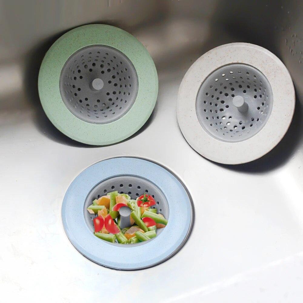 50//100PCS Disposable Floor Drain Filters Sink Strainer Bathroom Hair Catcher