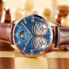 2020 ailang top brand luxury watch men diver double tourbillion Mechanical Skeleton Men waterproof Clock orologi uomo automatici