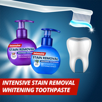 Removedor de manchas intensivo branqueamento creme dental anti sangramento gengivas para escovar dentes tsh loja|Economizador de creme dental| |  -