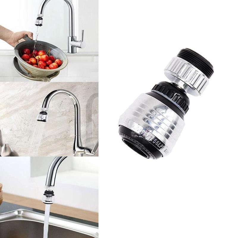 1pcs Water Tap Bubbler Adjustable Water Saving Tap Faucet Adapter Aerator Antisplash Faucet Accessories Kitchen Sink Shower Head