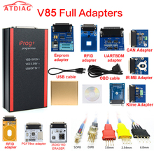 V85 Iprog+ Key Programmer Support IMMO + Mileage Correction + Airbag Reset Iprog Pro Till 2019 with 11 adapter full