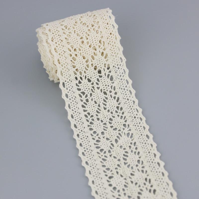 (5 mètres/rouleau) coton blanc brodé dentelle Net rubans bordure de tissu bricolage couture artisanat matériaux