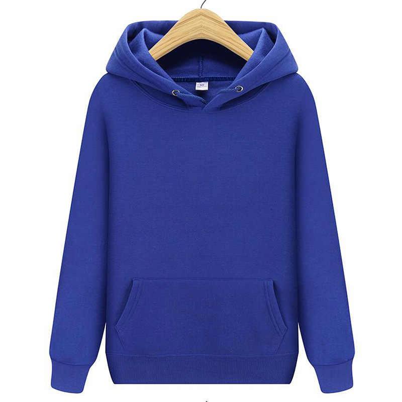 2019 แฟชั่นผู้ชายสีทึบ hoodie ฤดูใบไม้ร่วงและฤดูหนาวชาย/หญิง Street สวม hip hop เสื้อกันหนาว hoodie pullover