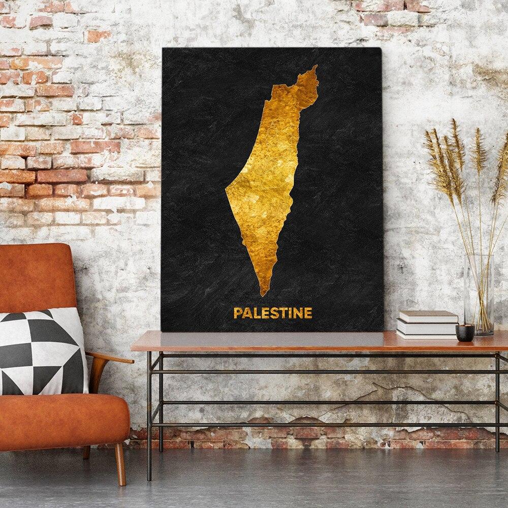 Nowoczesne na płótnie drukowane ściany Artork palestyna plakat malarstwo nowoczesne dekoracje do domu modułowe zdjęcia bez ramy do salonu