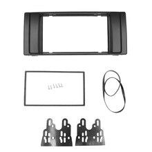 כפול 2 דין רדיו Fascia עבור BMW X5 (E53) 5 (E39) סטריאו Facia מסגרת פנל רדיו DVD CD דאש הר ערכת מתאם Trim לוח