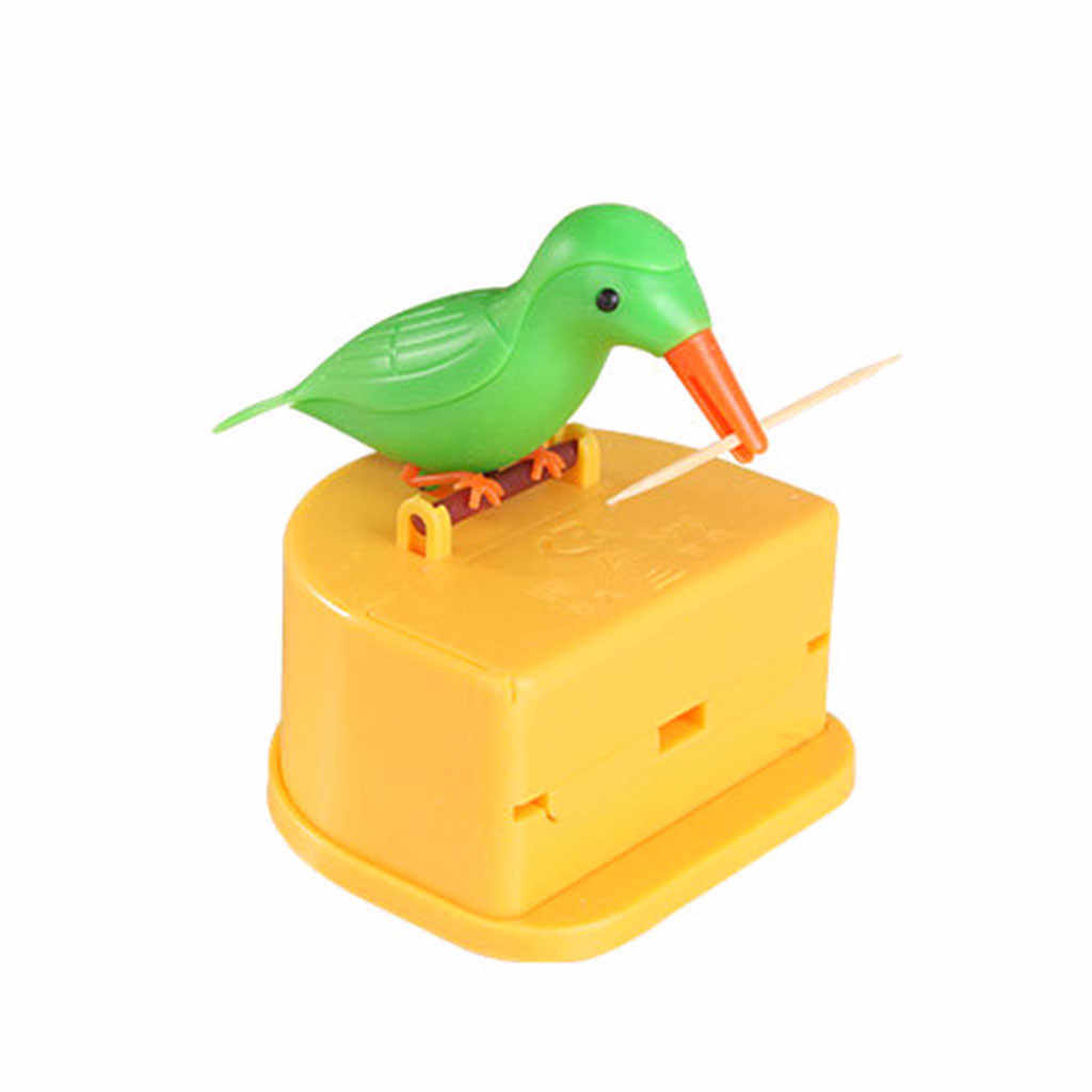 Support pour cure-dents distributeur mignon oiseau colibri cure-dents distributeur Gag cadeau nettoyage dents Table décoration cure-dents boîte