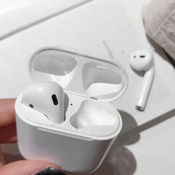 1 Pair Dust Guard Protective Sticker Earphone Case Shell Skin Dust-proof for Airpods Charging Box LX9B image