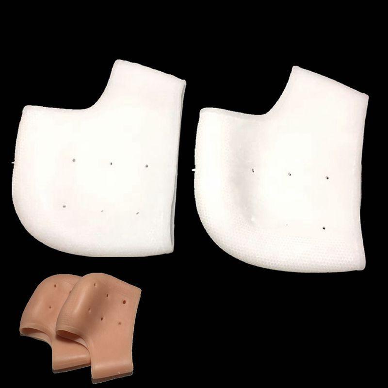 Heel Crack Proof Cover Silicone Heel Foot Pad Socks Thin Elastic Falt Foot Arch Gel Insoles Pads Insert Cushion 1pair=2pcs BJ202