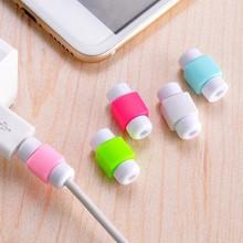 5 sztuk silikonowy kabel USB Protector słuchawki przewód ochronny pokrywa danych ładowarka linia ochronna dla Iphone 6 7 8 Plus tanie tanio Mini Cute Colorful Standard HXJ577 red green pink