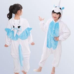 Image 4 - Jongens Meisjes Pyjama Animal Pyjamas Baby Herfst Winter Flanel Leuke Hooded Kids Nachtkleding Pijamas Cosplay Voor 4 6 8 10 12 Jaar