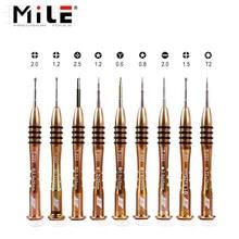 Mile 1 pçs chave de fenda de precisão magnética p2 p5 pentalobe 1.5 cruz y0.6 para iphone11promax xs xr abrir desmontar ferramentas reparo