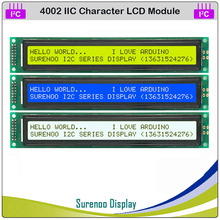 Serial IIC / I2C / TWI 4002 402 40*2 Character LCD Module Display Yellow Green Blue with Backlight for Arduino