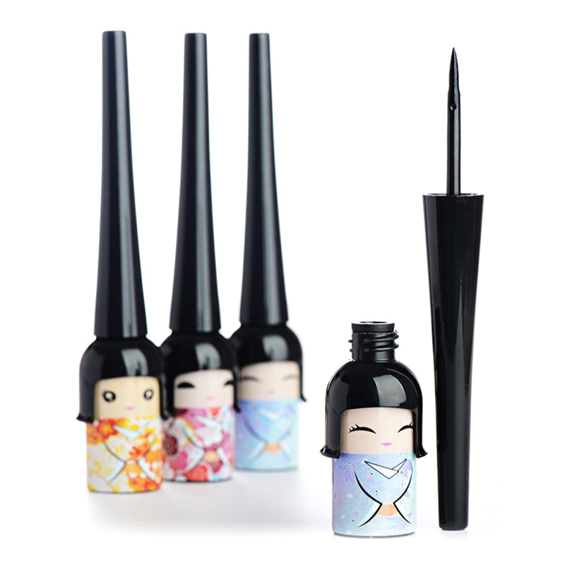 Quick-drying Cool Eyeliner Hard And Soft Eye Liner  Waterproof Lasting Sweatproof  Cute Lucky Dolls Eye Liner Pen Makeup TSLM2