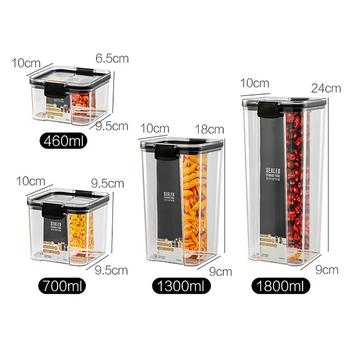 Eco-Friendly Kitchen Food Storage Containers Refrigerator Organizer Tea Bean Grain Food Storage Box Sealed Container Clear Case 6