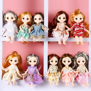 BJD Doll 1/12 16cm Doll With Clothes Shoes 13 Movable Joints Princess Dress Up Baby Nude Body Fashion Dolls Toys for Girls Gift(China)