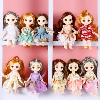 BJD Doll 1/12 16cm Doll With Clothes Shoes 13 Movable Joints Princess Dress Up Baby Nude Body Fashion Dolls Toys for Girls Gift fashion sd bjd doll girls doll with clothes blue eyes 18 inch cute princess doll toys for children s new year gift