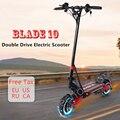 BLADE10X умный электрический скутер 10''52V 1000/2000 Вт внедорожный e скутер складной 65 км/ч двойной мотор скейтборд лучше  чем ZERO 10X