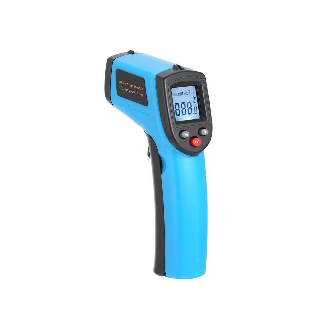 Pistolet de température d'industrie de thermomètre infrarouge de Laser d'ir numérique d'affichage à cristaux liquides sans contact avec la fonction de contre-jour de maintien de données
