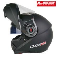 Original LS2 FF370 Casco motocicleta Modular abatible hacia arriba hombre kask Capacete ls2 con doble Visor de carreras Casco Moto de la CEPE de certificación