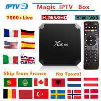 X96mini Android Tv Box IPTV abonnement france italie arabe belgique espagne suède nordique Portugal Canada USA Smart IPTV M3U