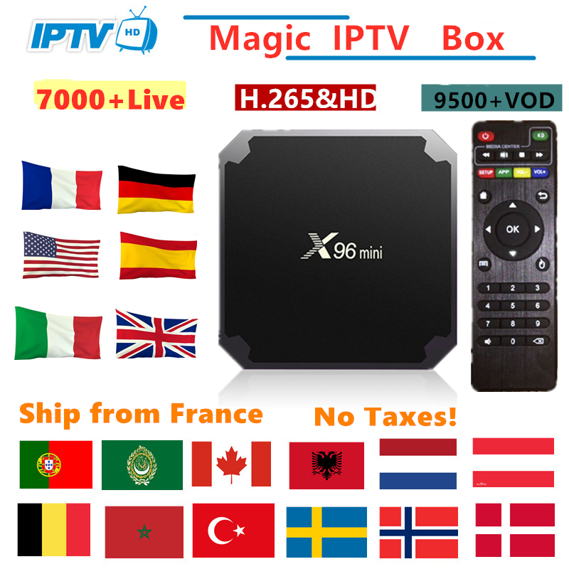 X96mini Android Tv Box IPTV France Italy Arabic Belgium Spain Sweden Nordic Portugal Canada USA M3U Smart TV