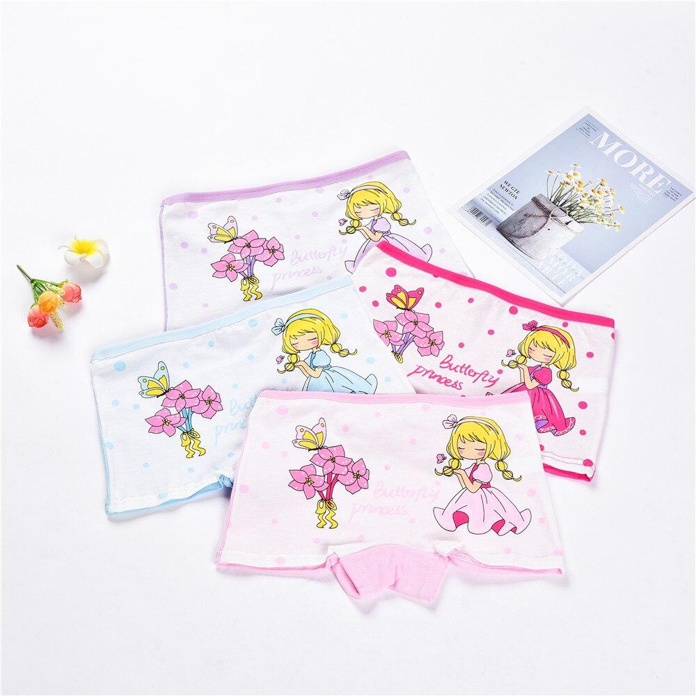 Soft Girl Pants Briefs Children Underwear Kids Boxer Cat-Pattern Cotton Cute 4pieces/Lot