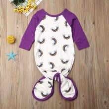 Pudcoco/Одежда для новорожденных мальчиков и девочек с принтом радуги; спальный мешок с длинными рукавами; Пеленальное Одеяло; одежда
