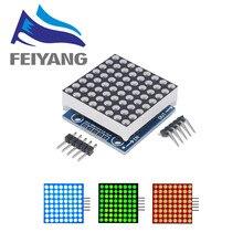Módulo de matriz de microcontrolador MAX7219, módulo de pantalla de productos terminados, puede usarse para programación arduino