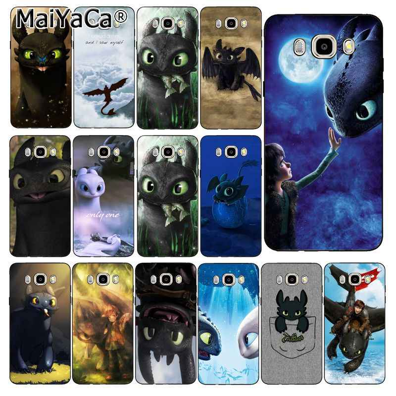 MaiYaCa toothless How To Train Your Dragon Soft Phone Case For Samsung Galaxy J7 J6 J8 J4 J4Plus J7 DUO J7NEO J2 J7 Prime
