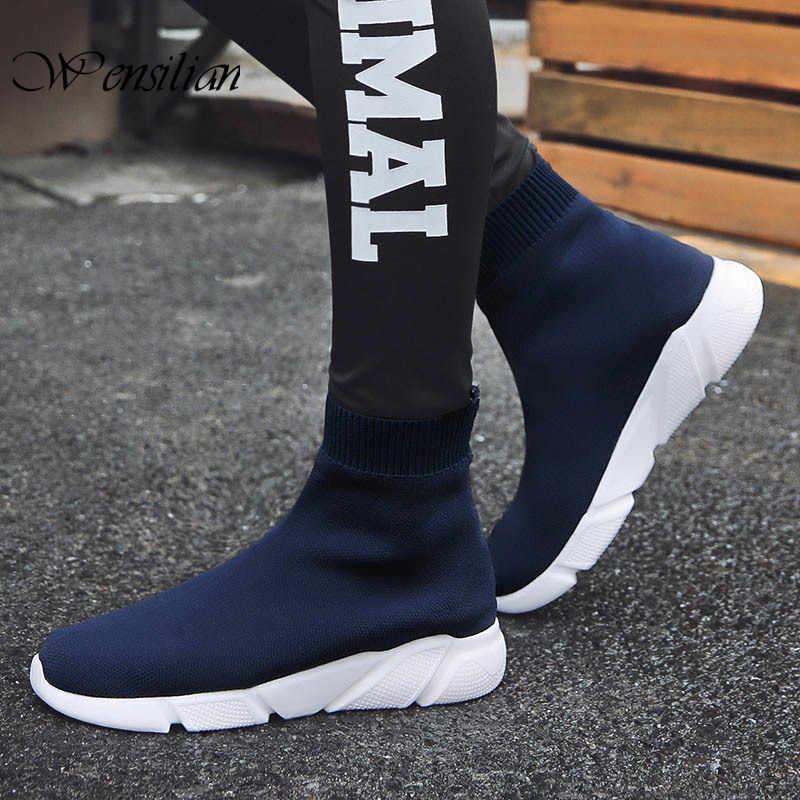 Socke Sneakers Mens Casual Schuhe Slip auf Männer Schuh High Top Sneakers für Männer Nicht Leder Casual Schuhe Atmungs Zapatillas hombre