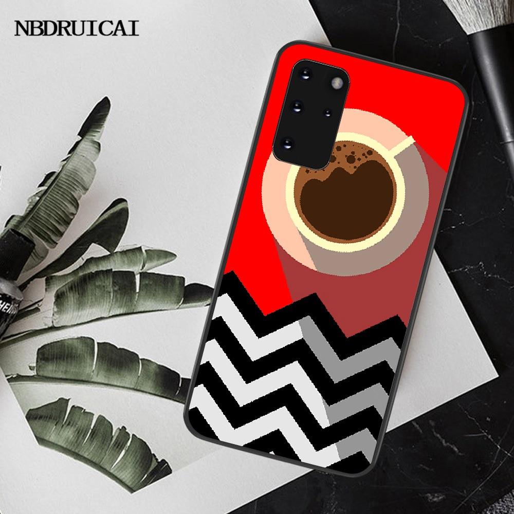 Nbdruicai bem-vindo ao twin peaks capa dura preta caso de telefone escudo macio para samsung s20 plus ultra s6 s7 borda s8 s9 mais s10 5g
