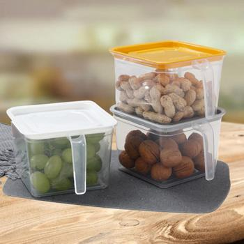 Fresh Keeping Kitchen Container Set and Refrigerator Food Storage Box with Lid and Handle
