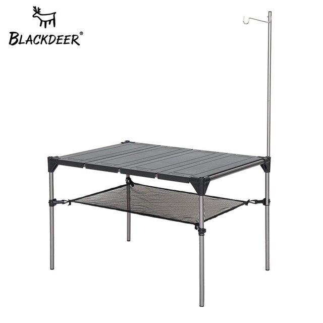 Blackdeer屋外キャンプデスクアルミ合金折りたたみテーブルポータブルピクニック釣りビール表軽量防雨着脱式キャンプテーブル