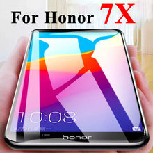 Protective Glass on For Huawei Honor 7x Screen Protector X7 7 X Tempered Glas Honor7x Sheet Armor Huawey Protection Protect Film(China)