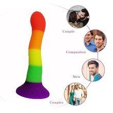 Huge Dildo Silicone Colorful Dildo Vaginal Erotic Fetish Men Vaginal Anal Clitor Stimulator SM Games Adult Toys with Suction Cup