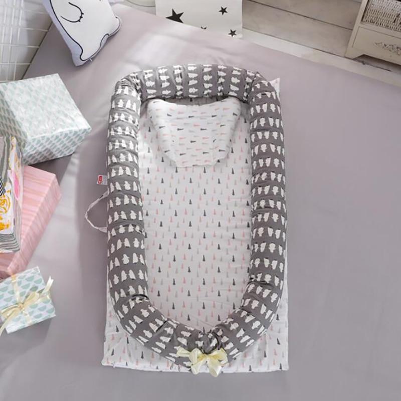 Baby cot Portable Crib travel Crib Mattress cotton Nest baby care Infant sleep Nursing Bumpers YHM024