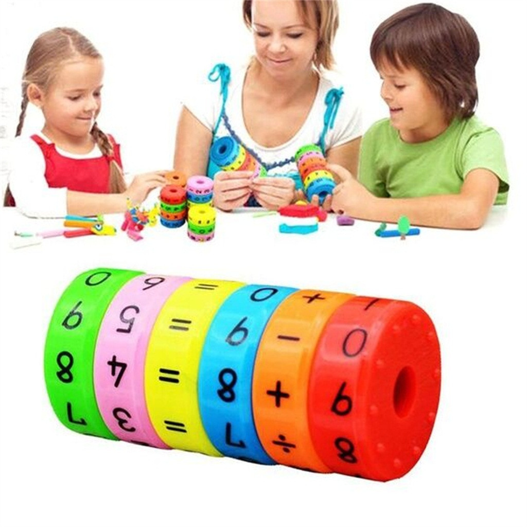 Kids Mathematics Magic Cube Magnetic Arithmetic Learning Toys Math Resources Number Games For Kids Children L1023