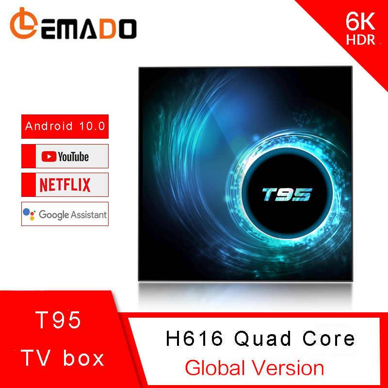صندوق التلفزيون أندرويد 10.0 T95 تي في بوكس أندرويد دعم 6K يوتيوب Netflix LEMADO 2020 أحدث مربع التلفزيون الذكية جوجل صوت مساعد
