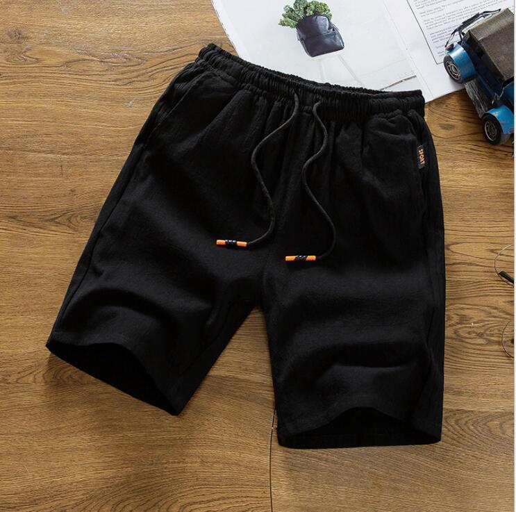 LS212 100% Cotton Casual Summer Sportswear Jogger Shorts Men Elastic Waist Summer Short