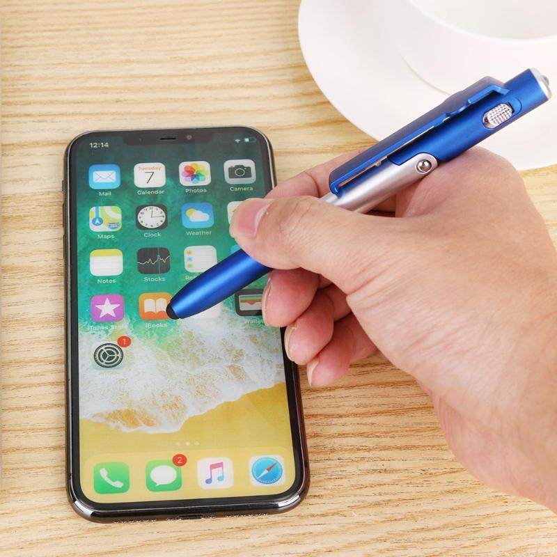 Multifunctional Ballpoint Pen Folding LED Light Mobile Phone Stand Holder 4 In 1 Pen School Office Stationery Supplies