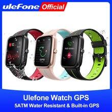 Ulefone relógio gps smartwatch embutido gps 5atm à prova dwaterproof água banda freqüência cardíaca monitoramento do sono para android ios