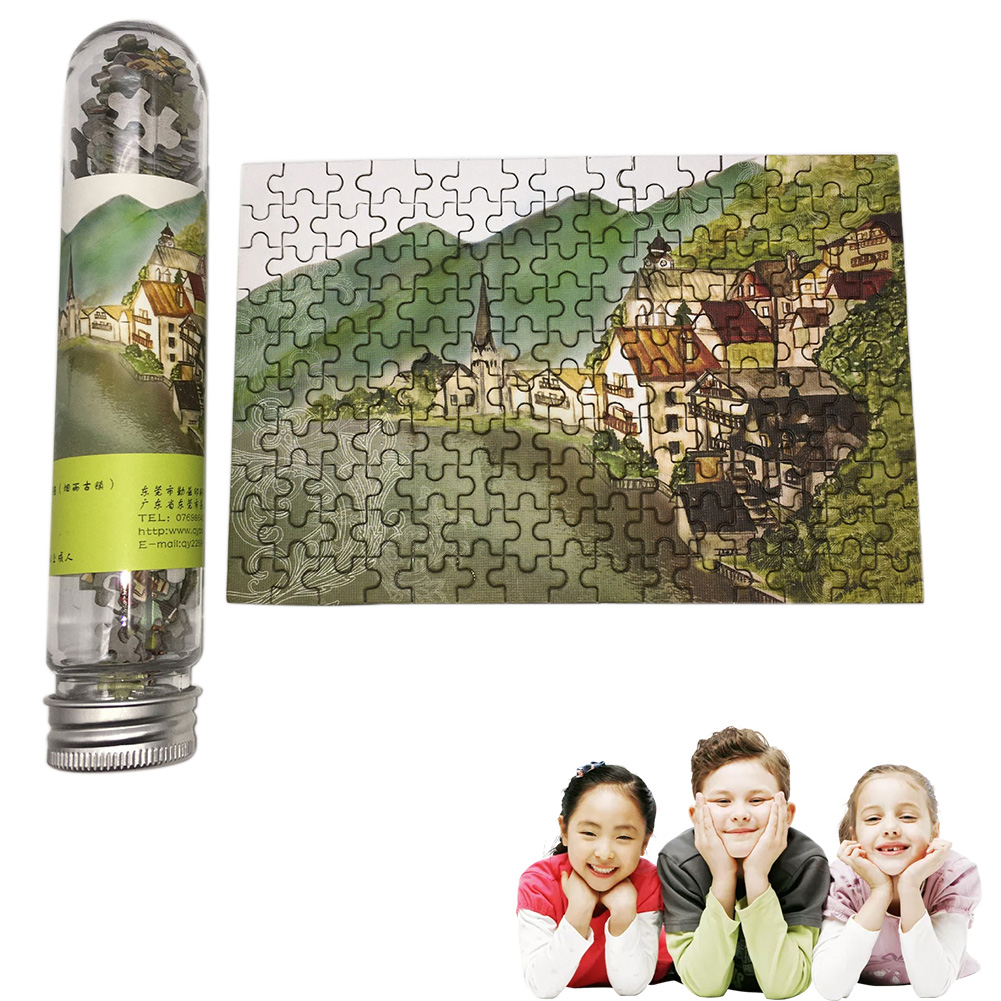 150PCS/PACK Fun Jigsaw Puzzles Creative Leisure Tourism Mini Puzzle Set With Tube Bottle Novelty Toy Christmas Gift For Kids